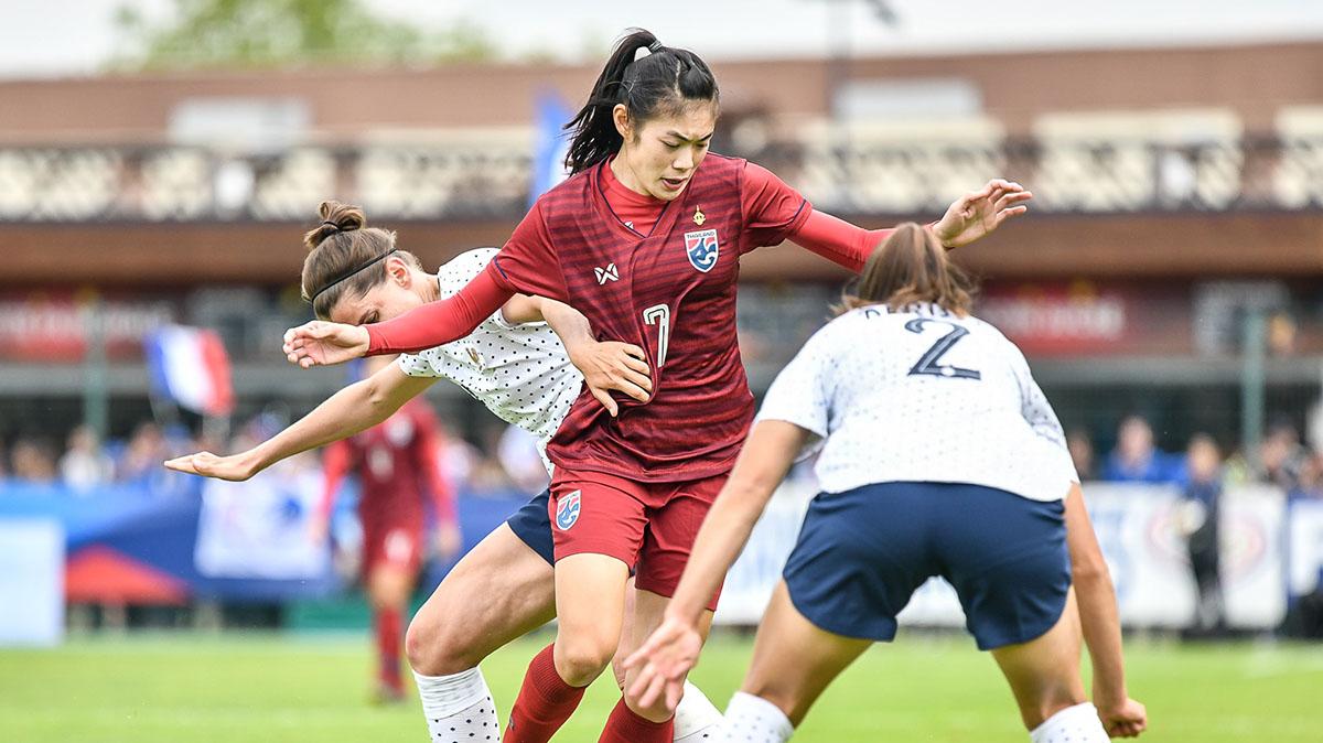 ทีมชาติฝรั่งเศส ทีมชาติไทย ฟุตบอลหญิง ฟุตบอลโลกหญิง 2019 สุกัญญา ช.เจริญยิ่ง