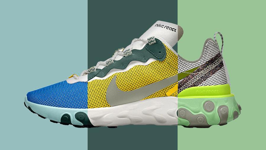 fashion nike Nike By You Nike Internationalist React Element Sneaker รองเท้า สนีกเกอร์ แฟชั่น ไนกี้
