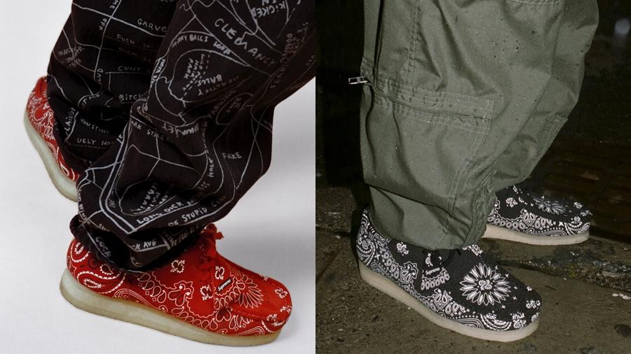 Clarks Originals fashion Sneaker streetwear Supreme Wallabee ซูพรีม รองเท้า สตรีทแวร์ สนีกเกอร์ แฟชั่น