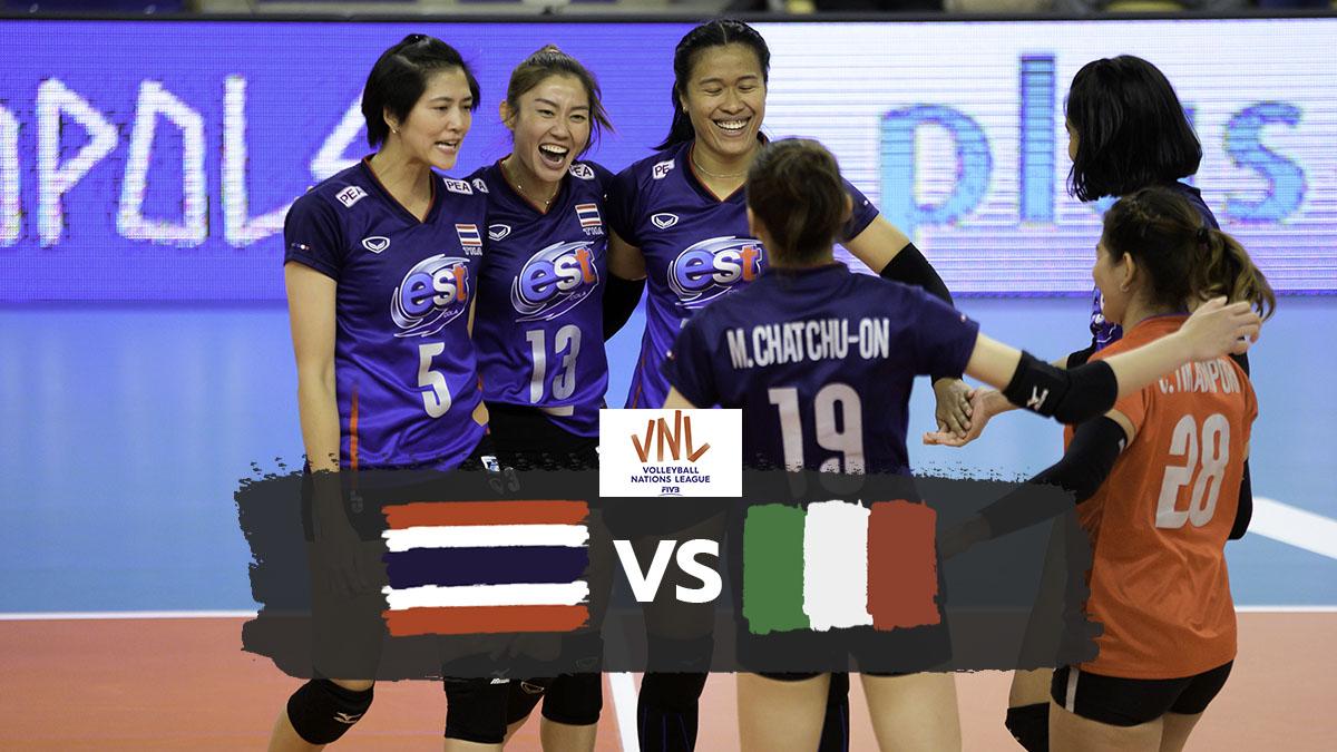 ทีมชาติอิตาลี ทีมชาติไทย วอลเลย์บอลหญิง เนชั่นส์ ลีก 2019