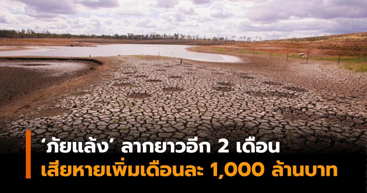 ภัยแล้ง มูลค่าความเสียหายทางเศรษฐกิจ ศูนย์วิจัยกสิกรไทย