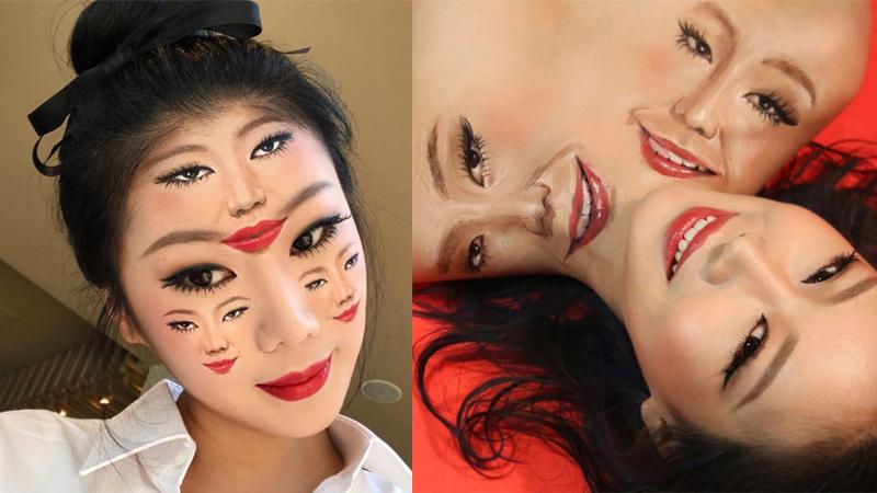 ภาพลวงตา ศิลปินสาวเกาหลี เมคอัพ แต่งหน้า