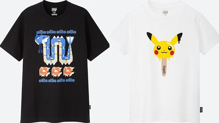 Pokemon uniqlo ออกแบบเสื้อ Pokemon เสื้อ Pokemon