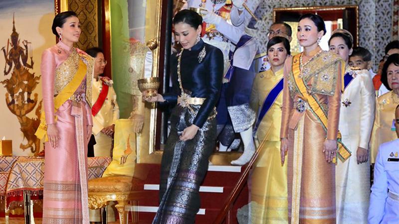 ฉลองพระองค์ไทยบรมพิมาน ชุดผ้าไหมยกลำพูน ชุดผ้าไหมไทย สมเด็จพระนางเจ้าสุทิดา
