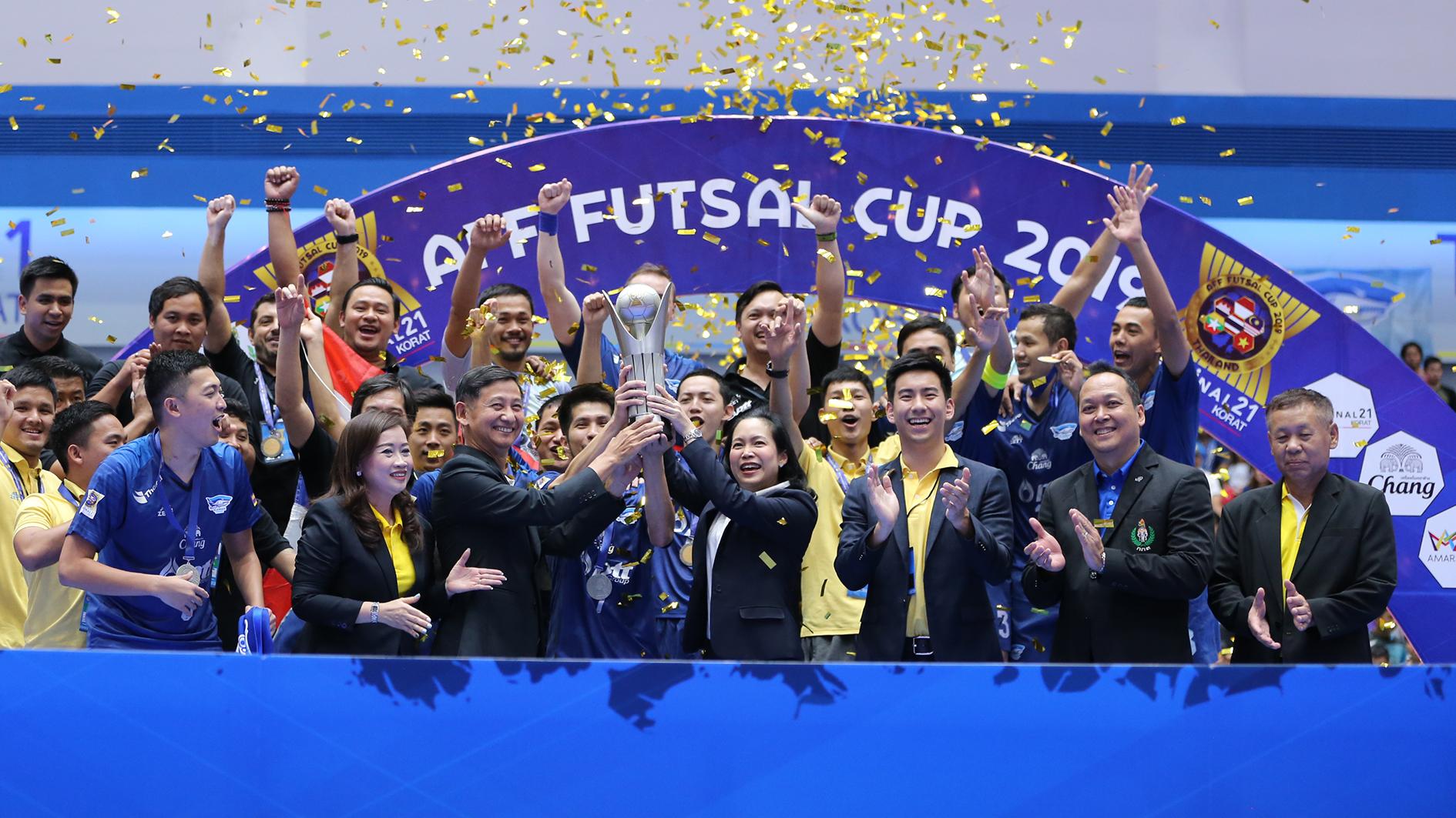 AFF FUTSAL CUP 2019 พีทีที บลูเวฟ ชลบุรี ฟุตซอลชิงแชมป์อาเซียน 2019 ศุภวุฒิ เถื่อนกลาง