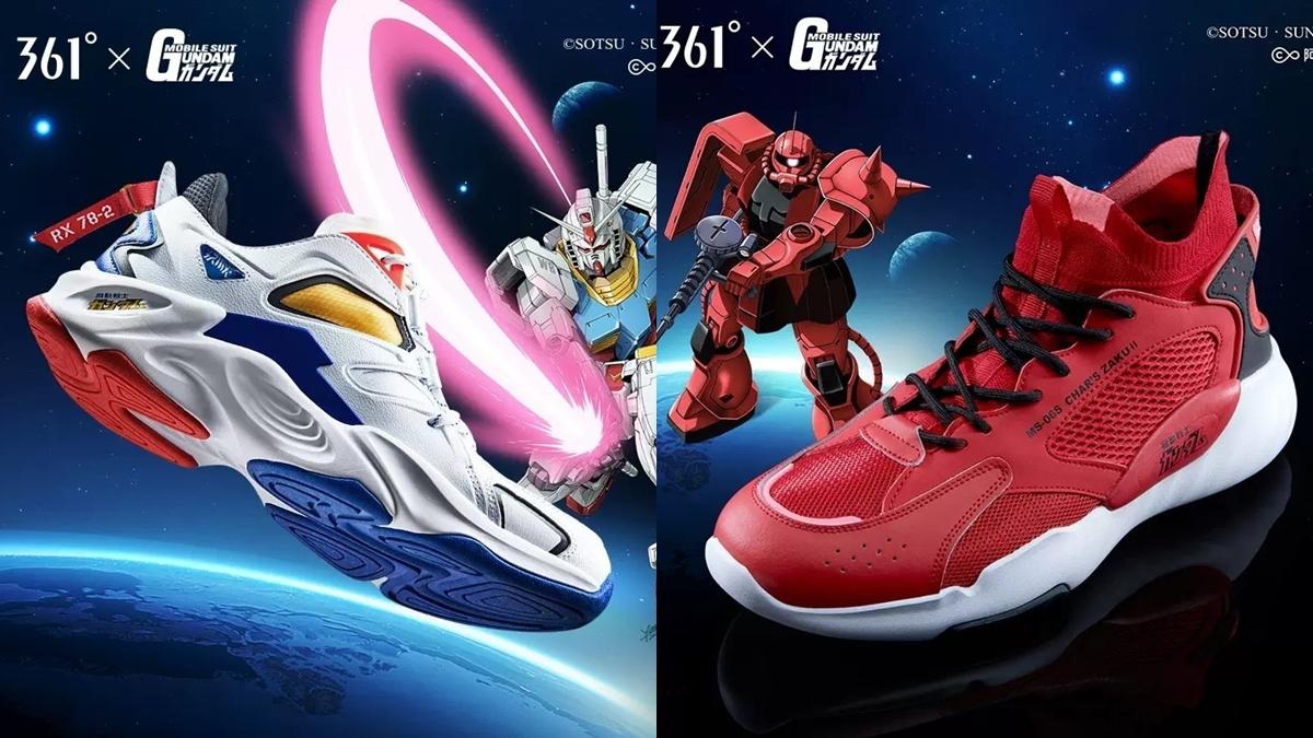 361 361xGUNDAM Gundam กันดั้ม รองเท้า รองเท้าวิ่ง แฟชั่นรองเท้า