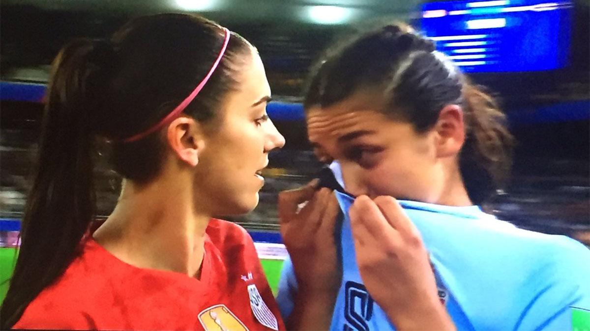 ทีมชาติสหรัฐอเมริกา ทีมชาติไทย ฟุตบอลหญิง ฟุตบอลโลกหญิง 2019 มิรันด้า สุชาวดี นิลธำรงค์ อเล็กซ์ มอร์แกน