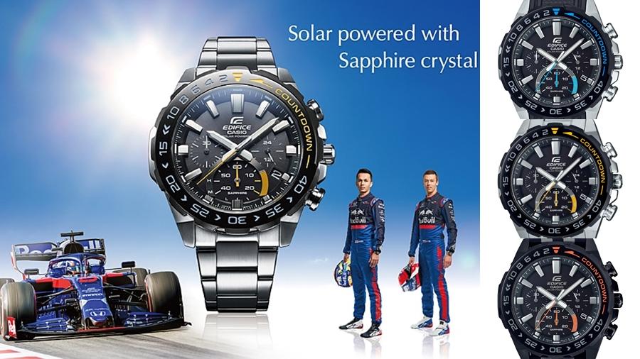 casio EDIFICE EFS-S550 fashion Formula 1 Scuderia Toro Rosso solar powered Speed and Intelligence watch นาฬิกา อเล็กซานเดอร์ อัลบอน แฟชั่น