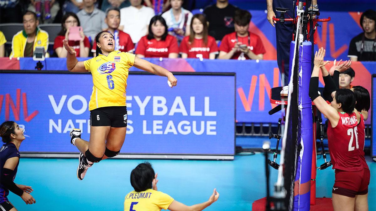 ทีมชาติญี่ปุ่น ทีมชาติไทย ผลวอลเลย์บอล วอลเลย์บอลหญิง เนชั่นส์ ลีก