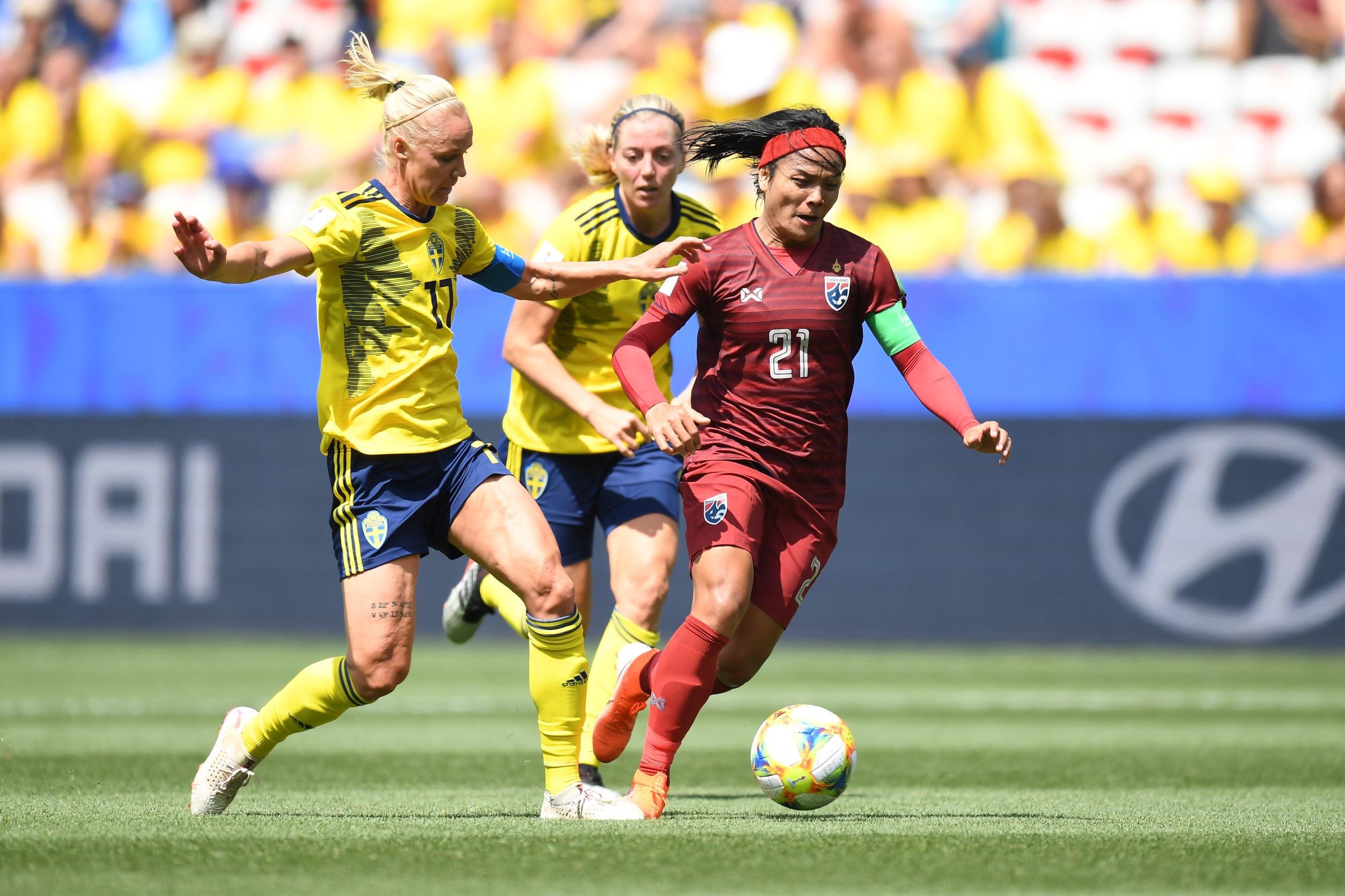 ทีมชาติสวีเดน ฟุตบอลหญิงชิงแชมป์โลก 2019 ฟุตบอลหญิงทีมชาติไทย ฟุตบอลโลกหญิง 2019