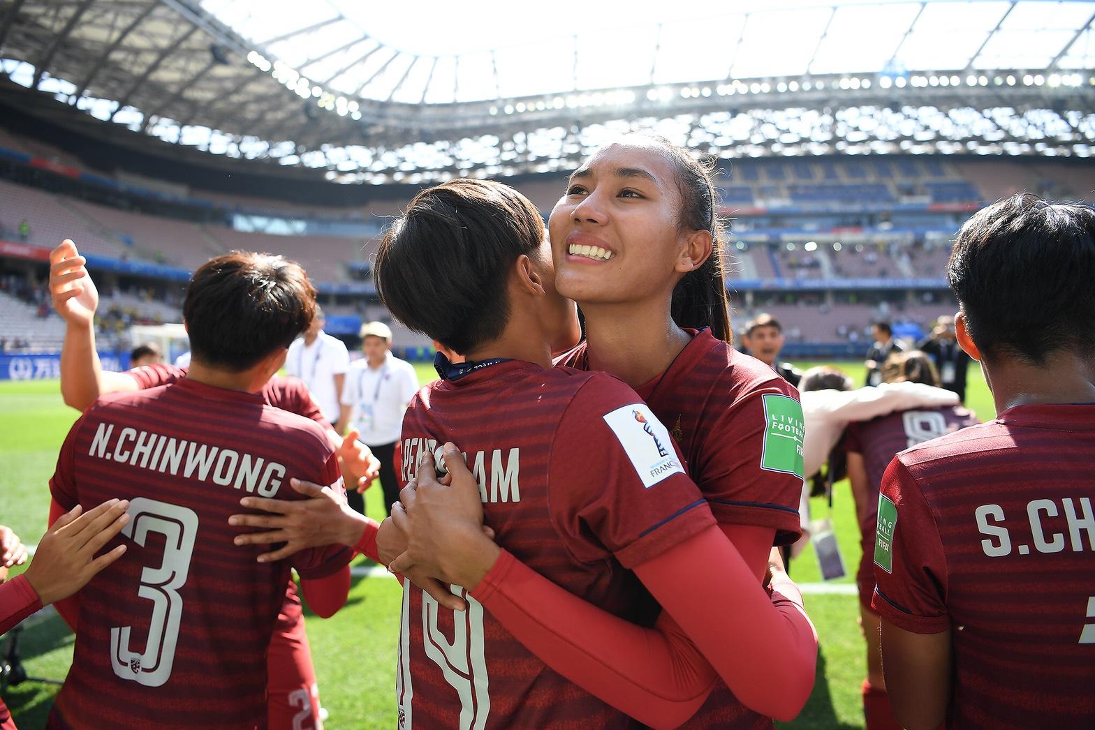 ณัฐกานต์ ชินวงษ์ ธนีกานต์ แดงดา ฟุตบอลหญิงทีมชาติไทย ยูนนาน เหิงจุ้น เป่ยเหลียน
