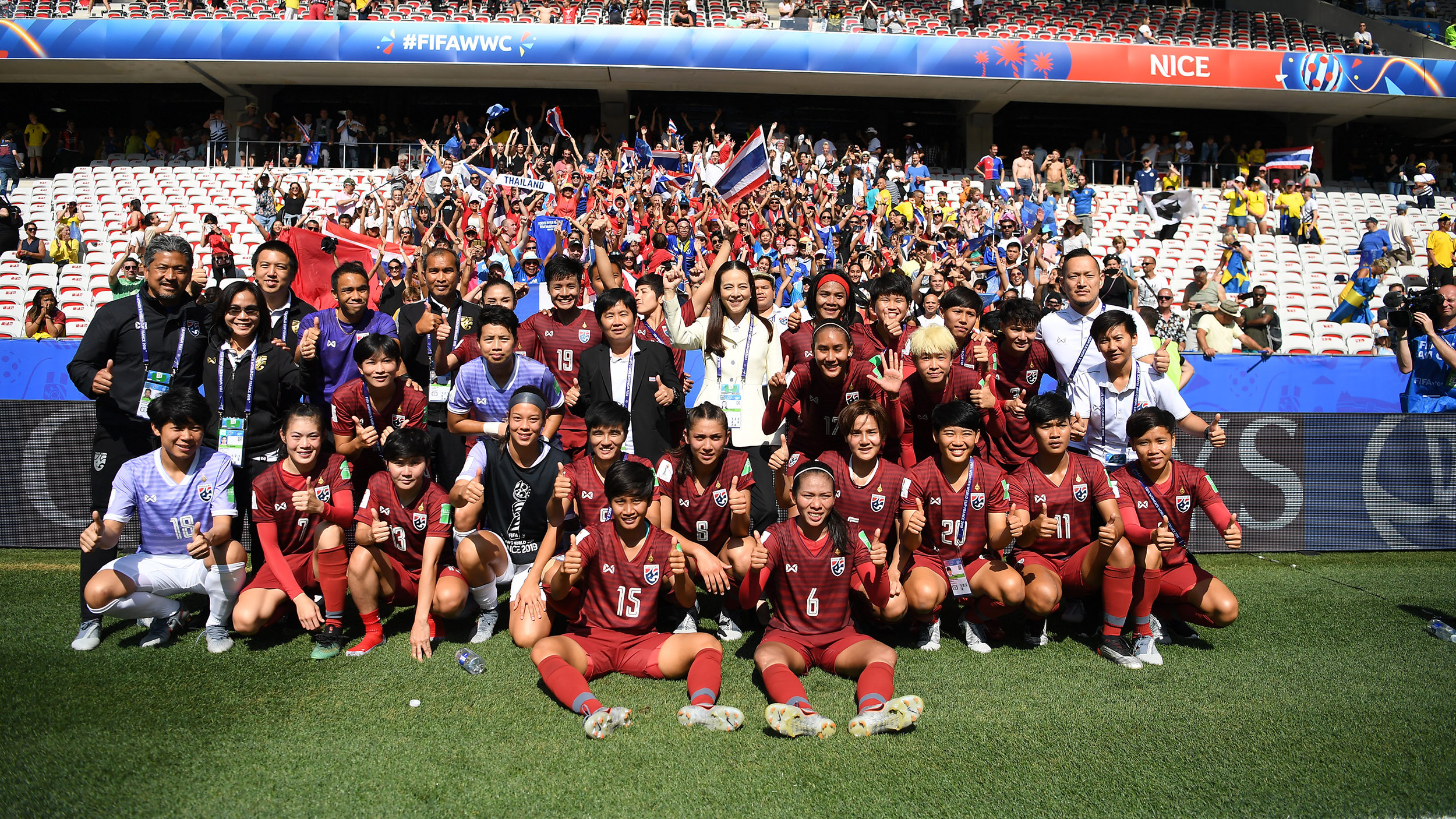 ทีมชาติชิลี ฟุตบอลหญิงทีมชาติไทย ฟุตบอลโลกหญิง 2019 หนึ่งฤทัย สระทองเวียน