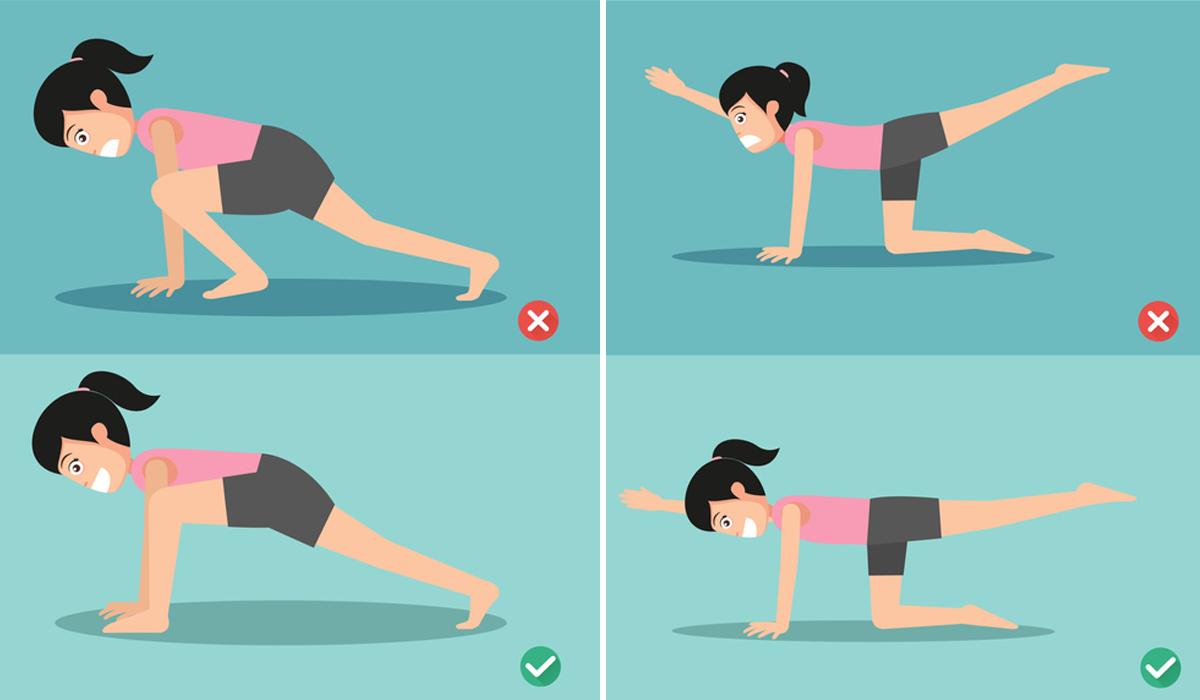 ท่าออกกำลังกาย ออกกำลังกาย ออกกำลังกายผิดท่า