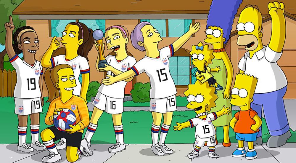 The Simpsons ซิมพ์สัน ทำเนียบขาว ฟุตบอลโลกหญิง สหรัฐอเมริกา โดนัลด์ ทรัมป์