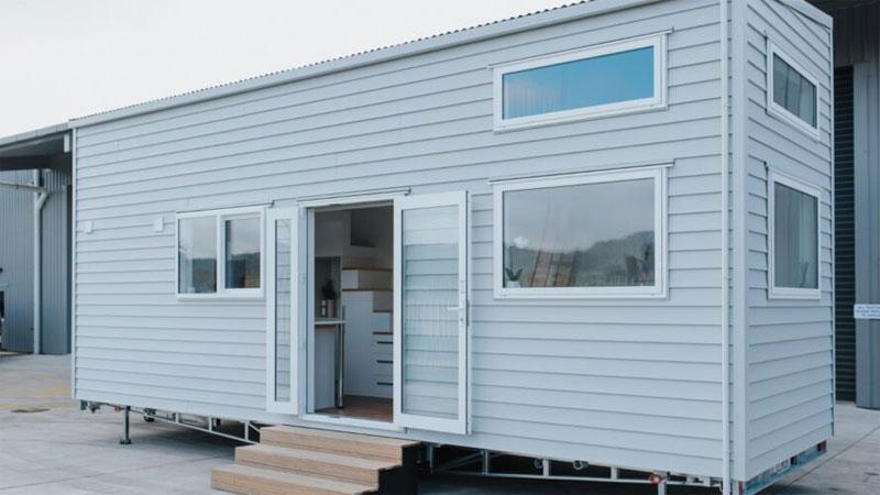 บ้านขนาดเล็ก บ้านสำเร็จรูป บ้านสำเร็จรูปชั้นเดียว ห้องนอน แผ่นไวนิล