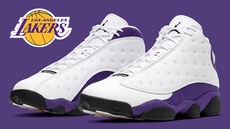 AirJordan AirJordan13 AirJordan13Lakers LALakers nike Sneaker รองเท้า รองเท้าบาส สนีกเกอร์ แฟชั่นรองเท้า