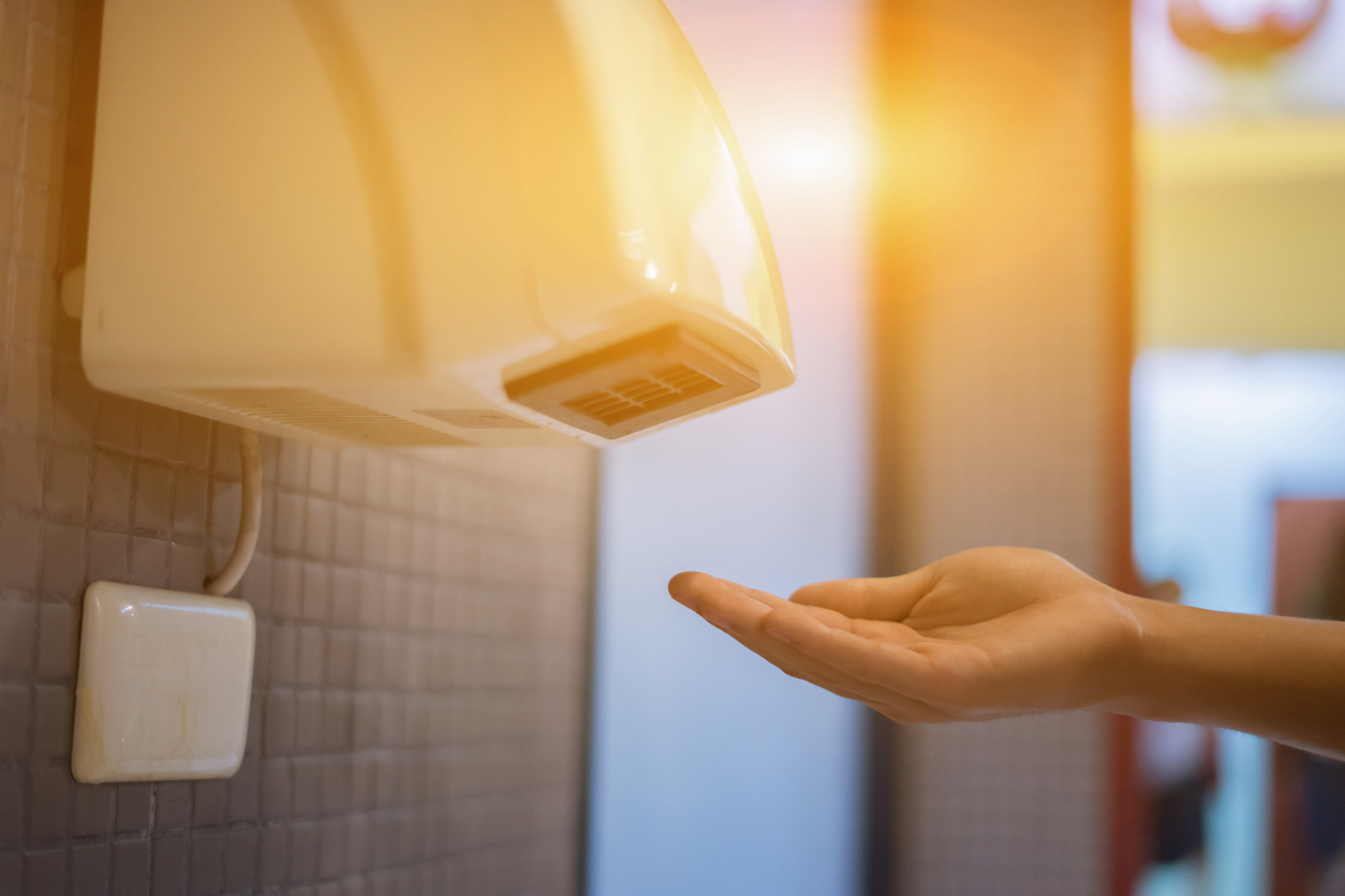 ล้างมือ เครื่องเป่ามือ เครื่องเป่ามือลมร้อน