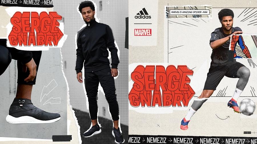 adidas adidas Football Alphaboost fashion football marvel Marvel Nemeziz Nemeziz Serge Gnabry Sneaker Spider-Man รองเท้า สนีกเกอร์ สไปเดอร์แมน แฟชั่น