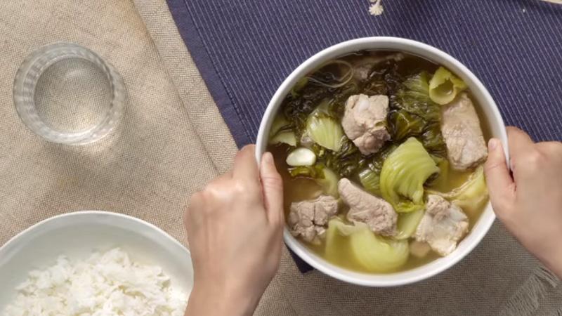 กินข้าวกัน ผักกาดดองต้มกระดูกหมู วิธีทำ ผักกาดดองต้มกระดูกหมู สูตรอาหาร