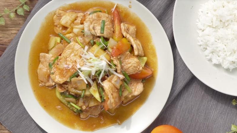 กินข้าวกัน ผัดเปรี้ยวหวาน วิธีทำ ผัดเปรี้ยวหวาน สูตรอาหาร อาหารตามสั่ง