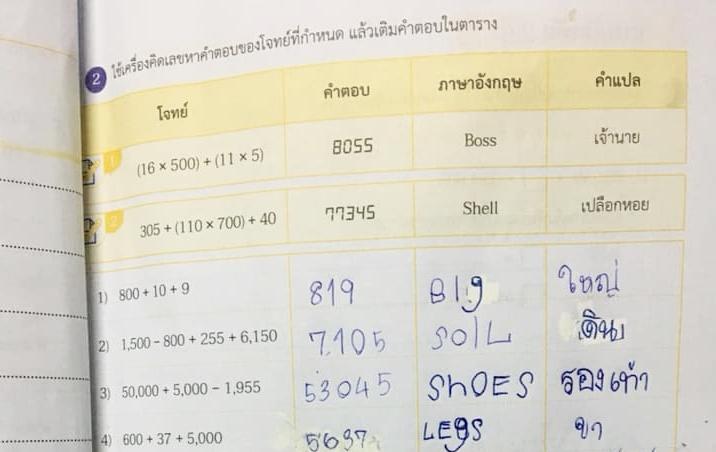 การบ้าน การบ้าน ป.4 การบ้านเลข คณิตศาสตร์ ภาษาอังกฤษ วิชาเลข ศัพท์อังกฤษ