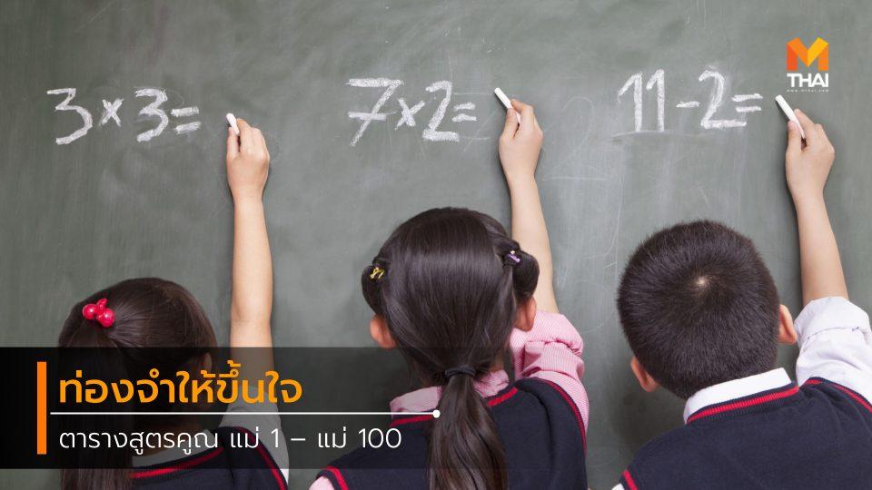 multiplication table คณิตศาสตร์ คณิตศาสตร์พื้นฐาน ตารางสูตรคูณ วิชาคณิต วิชาคณิตศาสตร์ วิชาเลข สูตรคูณ เลข