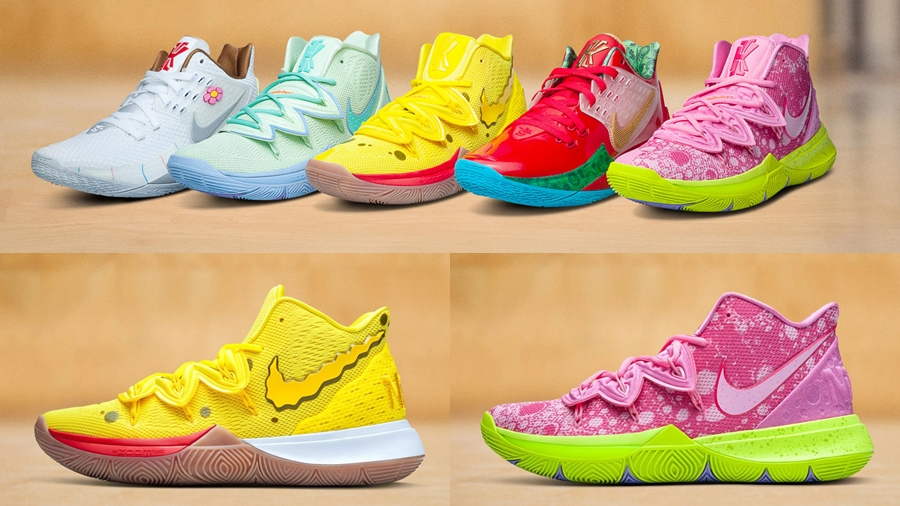 fashion Kyrie Irving Nike Kyrie SpongeBob SquarePants SpongeBob SquarePants x Nike Kyrie รองเท้าบาส รองเท้าบาส SpongeBob SquarePants แฟชั่น แฟชั่นผู้ชาย