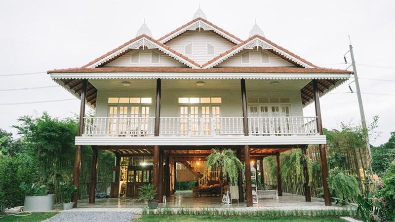 ครัวไทย บ้านเรือนไทยใต้ถุนสูง บ้านไม้ สร้างบ้าน เรือนไทย