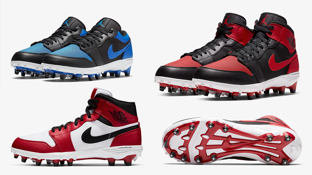 Air Jordan Air Jordan 1 Jordan 1 TD รองเท้าฟุตบอล แฟชั่นรองเท้า