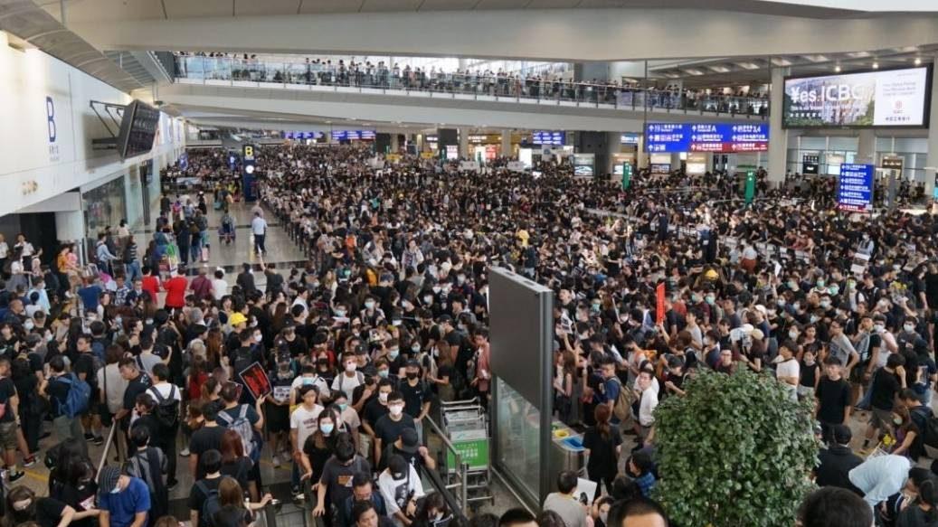 ข่าวสดวันนี้ ประท้วง สนามบินฮ่องกง ฮ่องกง