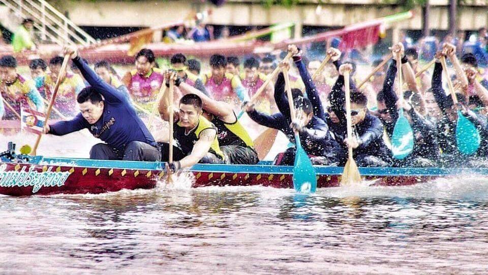 งานแข่งเรือประเพณี ศึกจ้าวแห่งสายน้ำลุ่มเจ้าพระยา แข่งเรือ
