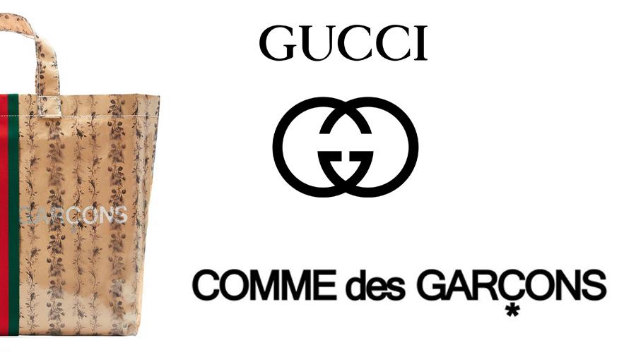 CDG Collaboration Comme des Garçons fashion gucci Tote Bag กระเป๋า กุชชี่ แฟชั่น