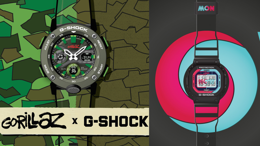 fashion g-shock GA-2000 Gorillaz GW-B5600 The Now Now watch นาฬิกา แฟชั่น