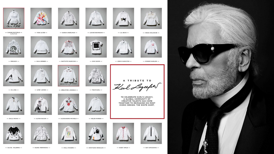 Cara Delevingne Carine Roitfeld designer Diane Kruger fashion Karl Lagerfeld Kate Moss Sébastien Jondeau Takashi Murakami Tommy Hilfiger Tribute to Karl ดีไซน์เนอร์ แฟชั่น