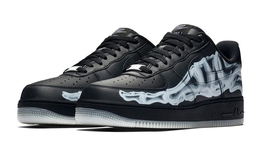 AIR FORCE 1 Black Skeleton fashion Halloween nike Sneaker รองเท้า สนีกเกอร์ ฮาโลวีน แฟชั่น ไนกี้