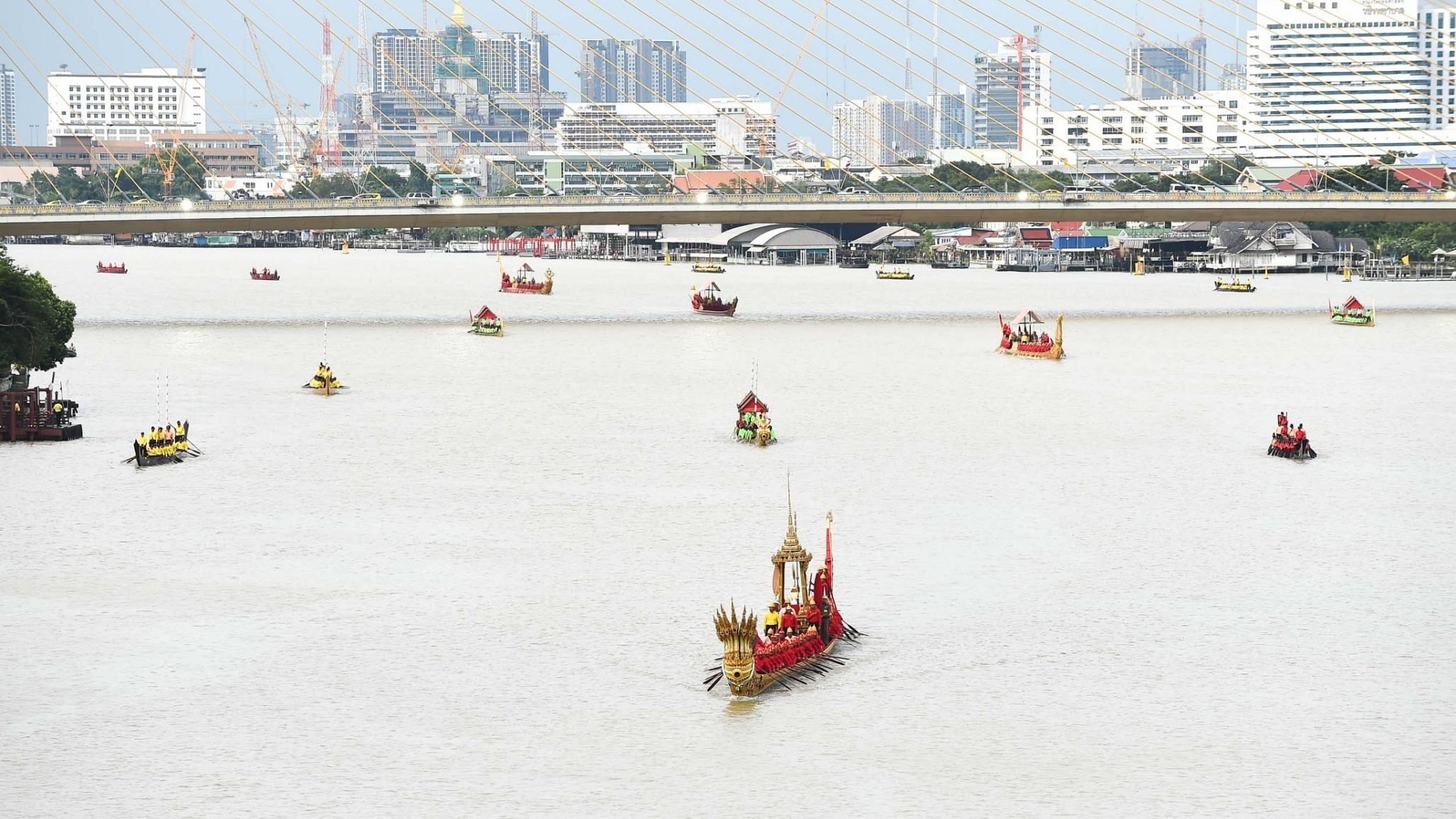 ขบวนพยุหยาตราทางชลมารค ขบวนเรือพระราชพิธี ซ้อมย่อยขบวนเรือพระราชพิธี
