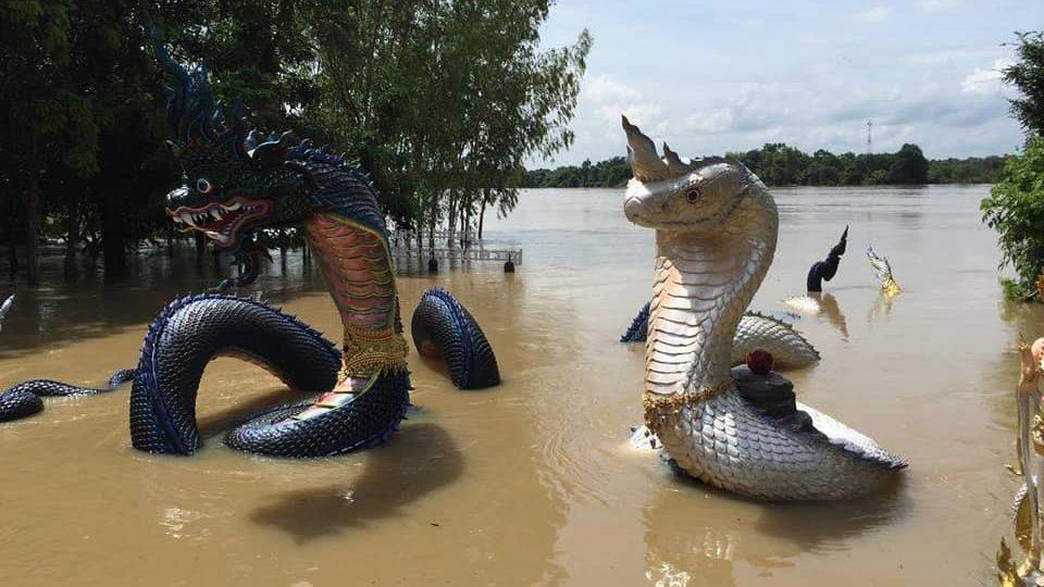 ข่าวจังหวัดอุบลราชธานี ข่าวสดวันนี้ น้ำท่วมอุบล พญานาคเล่นน้ำ