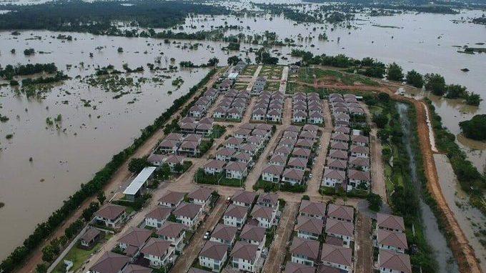 ข่าวสดวันนี้ น้ำท่วมอุบล บ้านจัดสรร