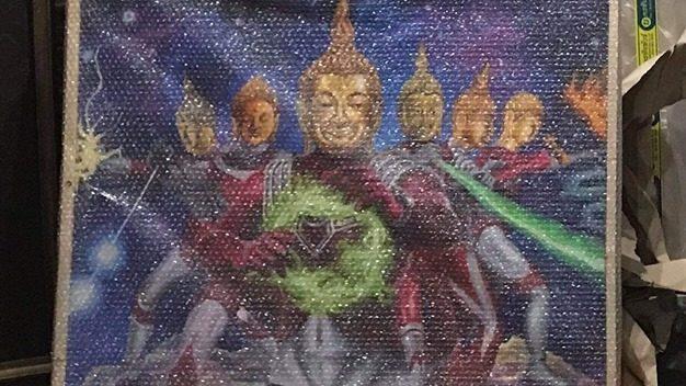 ข่าวสดวันนี้ ประมูลภาพพระพุทธรูปอุลต้ราแมน พระพุทธรูปอุลตร้าแมน