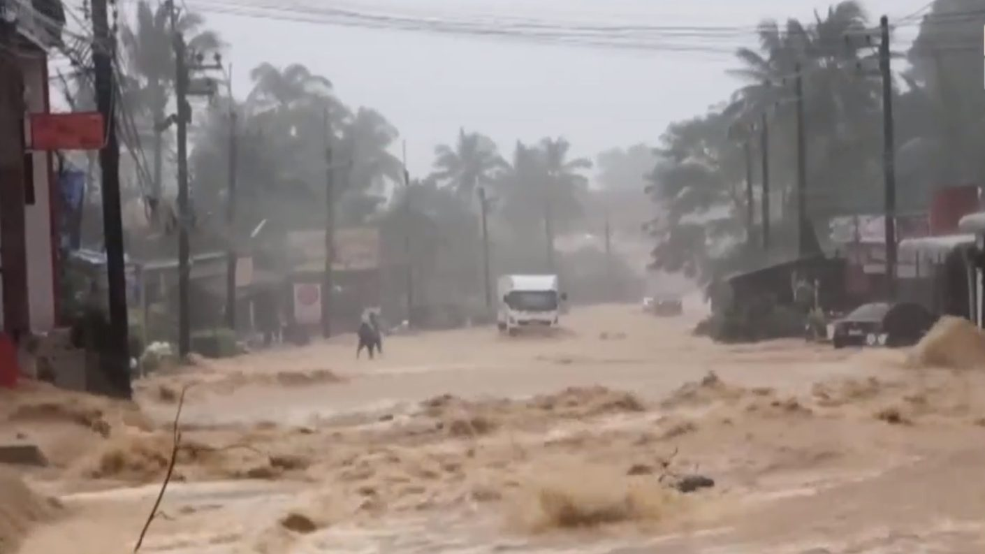 น้ำท่วมเกาะช้าง สถานการณ์น้ำท่วม เกาะช้าง