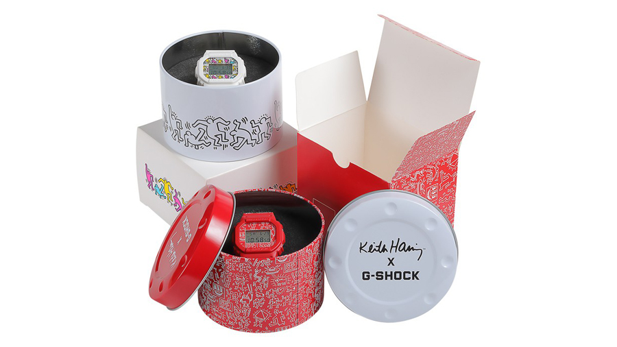 Collaboration DW-5600 fashion g-shock Keith Haring Pop Art streetwear watch นาฬิกา ป๊อปอาร์ต ศิลปะ ศิลปิน สตรีทแวร์ แฟชั่น