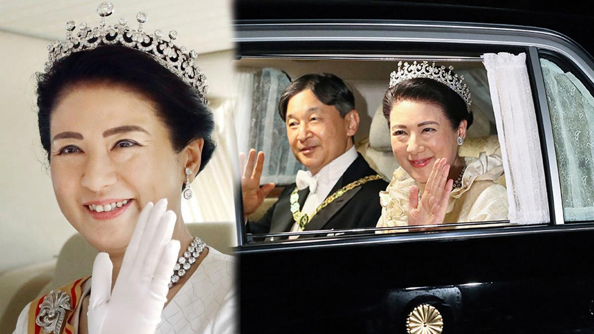 Meiji Scroll Tiara ราชวงศ์ญี่ปุ่น สมเด็จพระจักรพรรดินีมาซาโกะ เทียร่า