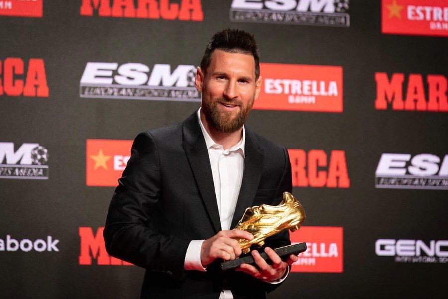 รางวัลGolden shoe หรือ รางวัลดาวซัลโวลีกยุโรปประจำฤดูกาล 2018/19 ลิโอเนล เมสซี่