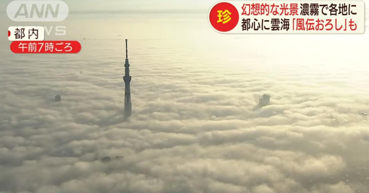 ข่าวสดวันนี้ ญี่ปุ่น ทะเลหมอก โตเกียว