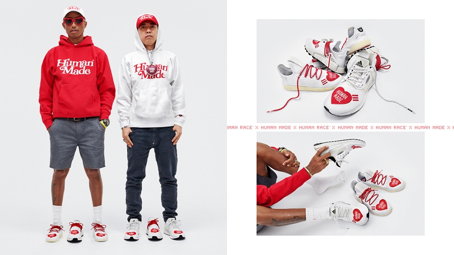 adidas adidas Originals Boost Hu Hu NMD HUMAN MADE NIGO NMD Pharrell Williams Sneaker Solar Hu รองเท้า สนีกเกอร์ อาดิดาส แฟชั่น