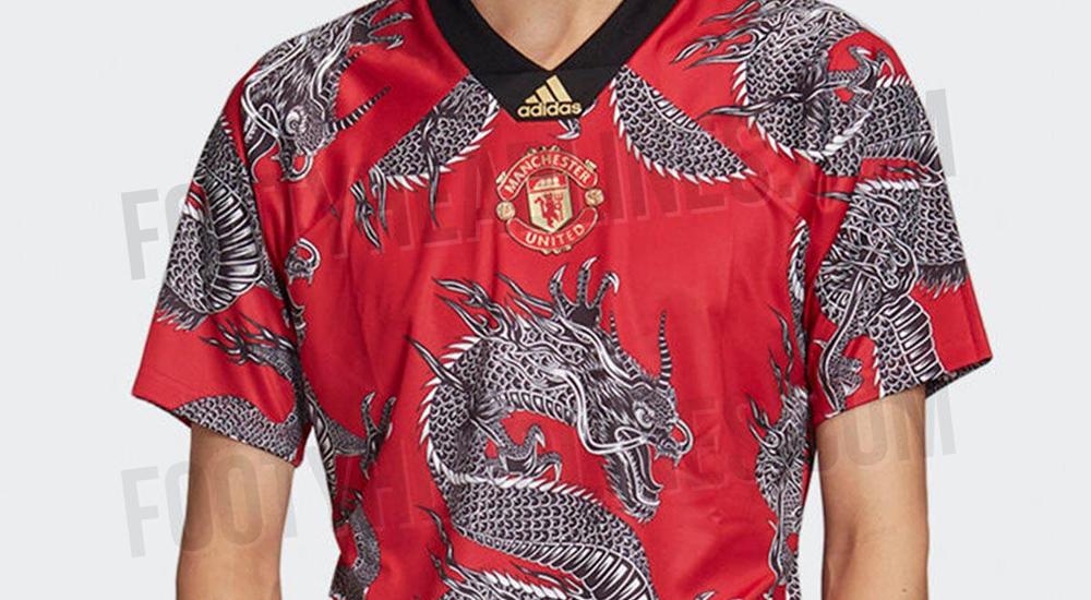 ตรุษจีน ลายมังกร อาดิดาส เสื้อแข่ง แมนเชสเตอร์ ยูไนเต็ด