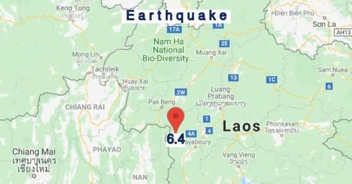 ข่าวสดวันนี้ ลาว แผ่นดินไหว