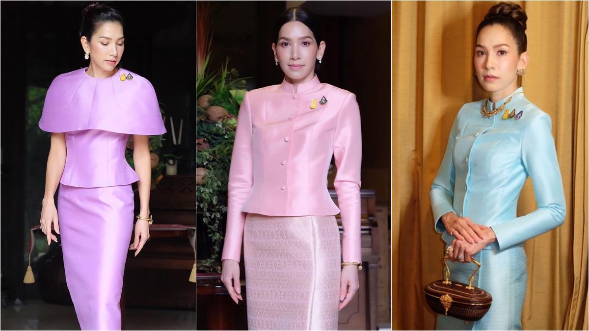 ชุดผ้าไทย ชุดผ้าไหมไทย ชุดไทย นุสบา นุสบา-ปุณณกันต์ ผ้าไหมไทย