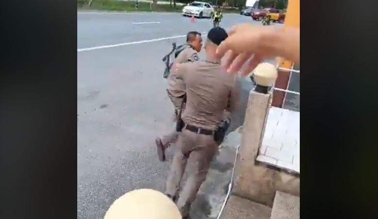 ข่าวตำรวจ ข่าวสดวันนี้ ด่านตรวจ ตำรวจกรีดยางรถ
