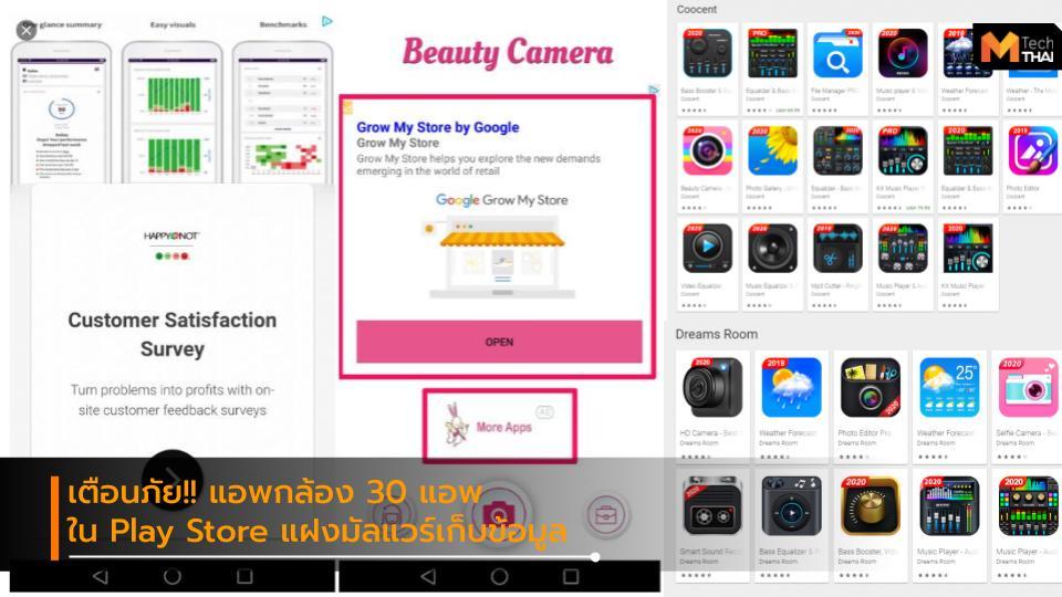 Android Play Store มัลแวร์ แอพกล้องถ่ายภาพ แอพพลิเคชัน